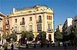 Les célèbre El Giraldillo restaurant Plaza Virgen de los Reyes, Santa Cruz district, Séville, Andalousie, Espagne, Europe