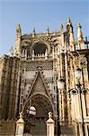 Cathédrale de Séville, patrimoine mondial UNESCO, Santa Cruz district, Séville, Andalousie, Espagne, Europe
