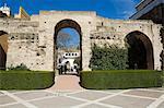 District de patio de la Monteria, Real Alcazar, Santa Cruz, Séville, Andalousie (Andalucia), Espagne, Europe