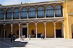 Patio de la Monteria, Real Alcazar, patrimoine mondial de l'UNESCO, le quartier de Santa Cruz, Séville, Andalousie (Andalucia), Espagne, Europe