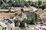 Real Alcazar, patrimoine mondial UNESCO, vu depuis la tour de La Giralda, le quartier de Santa Cruz, Séville, Andalousie (Andalucia), Espagne, Europe