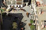 Chevaux et carrosses en Santa Cruz district, Séville, Andalousie, Espagne, Europe