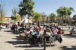 Tapas bar et restaurant, quartier de Santa Cruz, Séville, Andalousie, Espagne, Europe