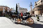 Plaza Virgen de los Reyes, quartier de Santa Cruz, Séville, Andalousie, Espagne, Europe