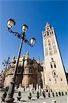 Seville Cathedral and La Giralda, UNESCO World Heritage Site, Plaza Virgen de los Reyes, Santa Cruz district, Seville, Andalusia, Spain, Europe