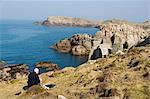 Hölle Bucht an einem ruhigen Tag, Bryer (Bryher), Isles of Scilly, aus Cornwall, Vereinigtes Königreich, Europa