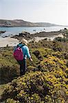 Küste, Bryer (Bryher), Isles of Scilly, aus Cornwall, Vereinigtes Königreich, Europa