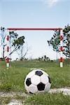 Fußball vor Net, Skagen, Skagen, Nordjylland, Jütland, Dänemark