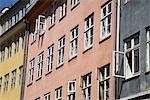 Extérieur de maisons à Copenhague, Zealand, Danemark