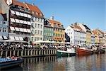 Vieux-Port de Nyhavn, Copenhague, North Sealand, Danemark