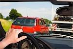 Point de vue du conducteur dans les embouteillages