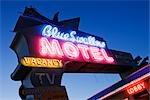 Route 66 Motel signe, Tucumcari, Nouveau-Mexique, États-Unis