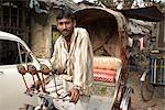 Cycle Rickshaw Driver, Calcutta, West Bengal, India