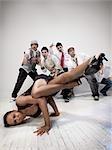 Woman Breakdancing