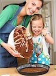 Mère et fille de cuisine