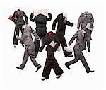 Une foule de costumes d'affaires