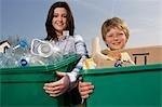Enfants de recyclage