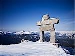 Inukshuk, mont Whistler, Whistler, Colombie-Britannique, Canada