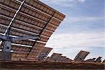 Panneaux solaires, désert de Monegros, Aragon, Espagne