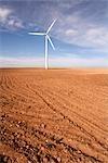 Wind Turbine, désert de Monegros, Aragon, Espagne