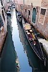 Gondel am Kanal, Venedig, Italien