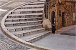 Stone Steps in Sidewalk, Tarragona, Catalunya, Spain