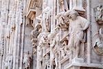Détail de Milan cathédrale, Milan, Lombardie, Italie
