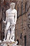 Statue de Neptune à la Piazza della Signoria, Florence, Toscane, Italie