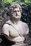 Büste im Boboli-Gärten, Palazzo Pitti, Florenz, Toskana, Italien