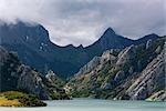 Lake and Mountains, Riano, Province of Leon, Castilla y Leon, Spain