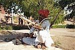 Man in Jaswant Thada, Jodhpur, Rajasthan, India