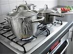 Topf in der Küche überkochen