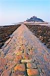 Causeway, St Michael's Mount, Marazion Beach, Cornwall, England, United Kingdom