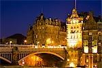 North Bridge, Scotsman Hotel, Edimbourg, Ecosse