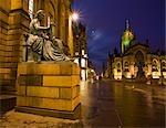 Statue de Hume, cathédrale Saint-Gilles, le Royal Mile, Édimbourg, Écosse