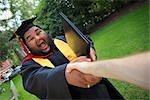 Graduate Shaking Hands