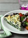 Feta und Spinat-Omelett