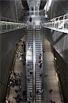 Escalator in Subway Station