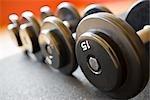 Nahaufnahme der Gewichte