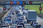 Heure de pointe du trafic sur un 5, Francfort-sur-le-main, Hesse, Allemagne