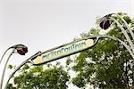 Metro Sign, Paris, Ile de France, France