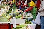 Fresh vegetables stall at Quarry Bay market,Hong Kong
