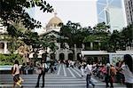 Sunday at Edingburgh Square,Central,Hong Kong