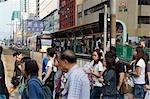 Streetscape at Yuen Long,New Territories,Hong Kong