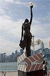Film award statue at Avenue of Stars,Tsimshatsui East,Hong Kong