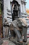 Ethnic sculptures at the entrance of Sri Senpaga Vinayagar temple,Katong,Singapore