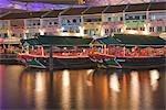 Clarke Quay at night,Singapore