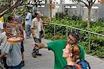 Tourists at Bird Street,Mongkok,Hong Kong