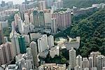 Vue aérienne de North Point, Hong Kong