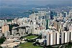 Vue aérienne sur olympique, Tai Kok Tsui, Kowloon, Hong Kong